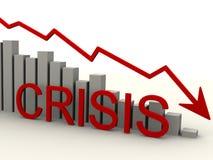 Crisis. Chart of falling Stock Photo