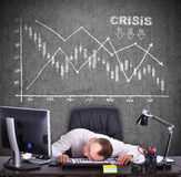 Crisis chart Royalty Free Stock Photography