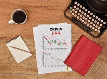 Crisis chart Royalty Free Stock Photography