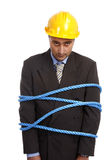 Crisis concept. Tied businessman. Recession and crisis concept Stock Image