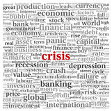 Crisis concept on white Stock Photos