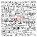 Crisis concept on white Stock Photos