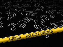 Crisis - crime scene Royalty Free Stock Photography