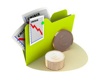 Crisis currency icon Stock Photography