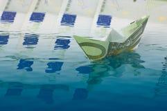 Crisis de dinero en circulación Imagen de archivo libre de regalías