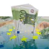 Crisis de dinero en circulación Foto de archivo
