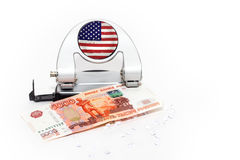 Crisis de Finansial Fotografía de archivo libre de regalías