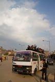 Crisis de la escasez de la gasolina en Katmandu, Nepal Imagen de archivo
