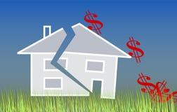 Crisis de la hipoteca Imagen de archivo libre de regalías