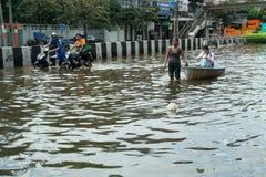 Crisis de la inundación en Tailandia fotografía de archivo