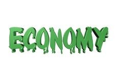 crisis de la tipografía del diseño 3D qué economía Fotografía de archivo