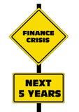 Crisis de las finanzas los 5 años próximos Foto de archivo