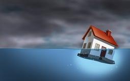 Crisis de las propiedades inmobiliarias ilustración del vector