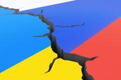 Crisis de Rusland-Oekraïne vector illustratie