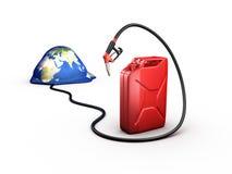 Crisis del combustible, recursos del combustible ilustración del vector