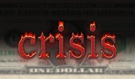 Crisis del dólar Fotos de archivo libres de regalías