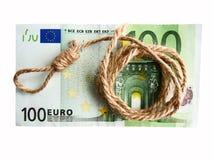 Crisis del dinero Imagen de archivo libre de regalías