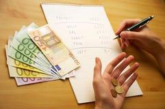 Crisis del dinero Fotos de archivo