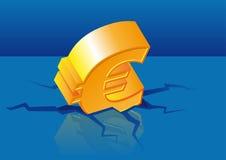 Crisis del euro del vector Imágenes de archivo libres de regalías