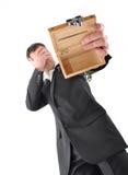Crisis del hombre de negocios Imagen de archivo