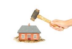 Crisis del mercado de la casa Imagen de archivo libre de regalías