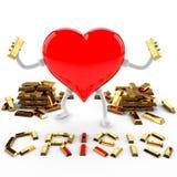 Crisis del oro fino Foto de archivo