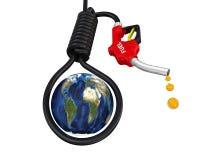 Crisis del petróleo en el globo libre illustration
