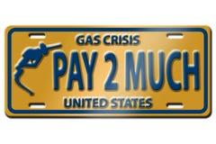 Crisis del precio de la gasolina Foto de archivo libre de regalías