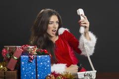 Crisis del tiempo de la Navidad Foto de archivo libre de regalías