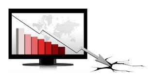 Crisis diagram illustration design Royalty Free Stock Images
