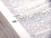 Crisis in dictionary Royalty Free Stock Photography