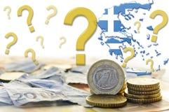 Crisis económica de Grecia Fotos de archivo libres de regalías
