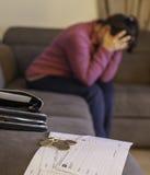 Crisis económica de la familia Fotografía de archivo