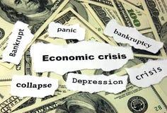 Crisis económica Fotos de archivo libres de regalías
