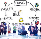 Crisis Economic Environmental Finance Global Concept Royalty Free Stock Images