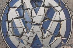 Crisis en Volkswagen Imagenes de archivo