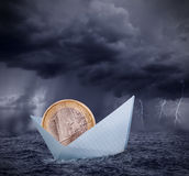 Crisis euro Imágenes de archivo libres de regalías
