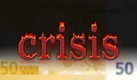 Crisis euro Foto de archivo