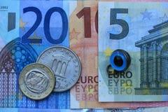Crisis euro griega 2015 Fotografía de archivo