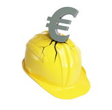 Crisis euro Industry. Financial crisis euro Industry on a white background Royalty Free Stock Image