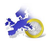 Crisis euro y financiera Fotografía de archivo libre de regalías