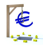 Crisis in Europe concept. 3d concept problem of the crisis in Europe Royalty Free Stock Photo