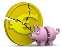 The crisis of the European economy. Concept Stock Images