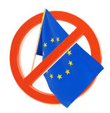 Crisis in the european union. Financial crisis European union on a white background Stock Photo