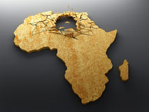Crisis exploded in Africa Stock Photography