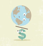 Crisis finance currency dollar balance. Stock Photography