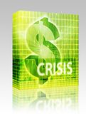 Crisis Finance illustration box package Stock Image