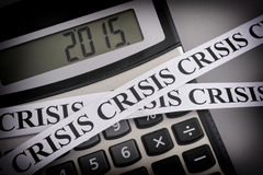 Crisis 2015 Royalty Free Stock Photo