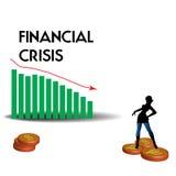 Crisis financiera Fotografía de archivo libre de regalías
