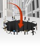 Crisis financiera. Foto de archivo libre de regalías